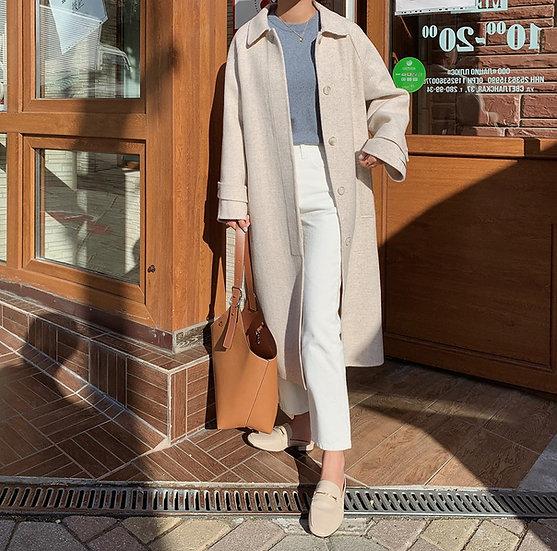 Herringbone hand-made coat