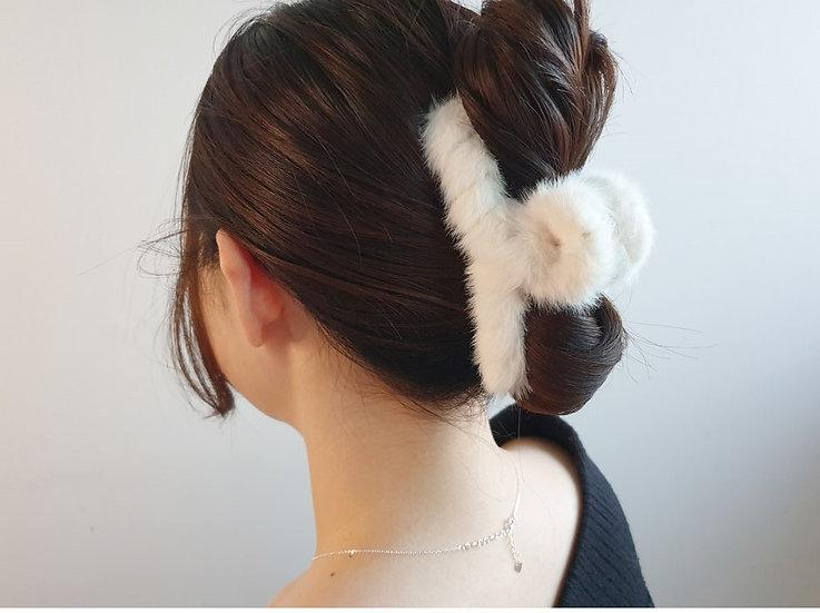 Mink hair pin