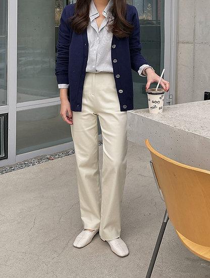 Creamy cotton pants