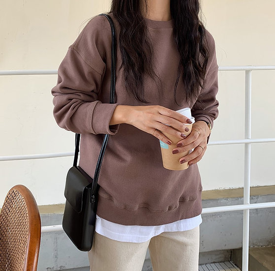 Cotton sweatshirt (Brwon)