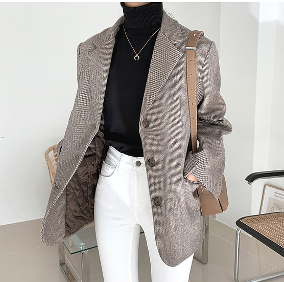 Check winter blazer