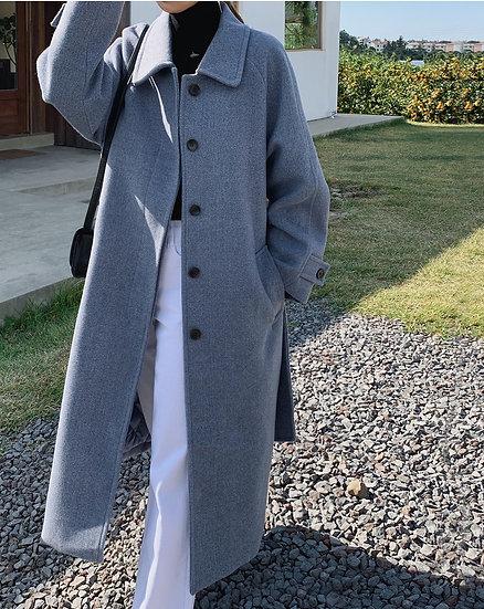 Bluegrey wool coat