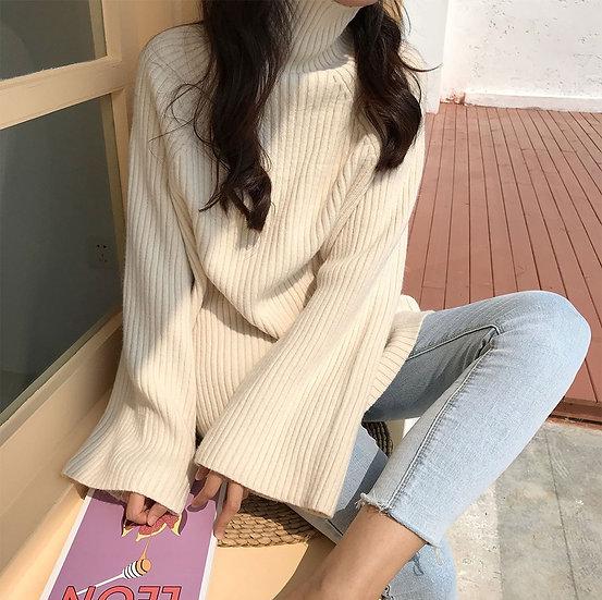 Soft turtleneck sweater