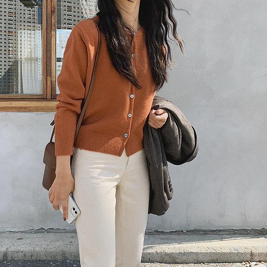 Orange cardigan