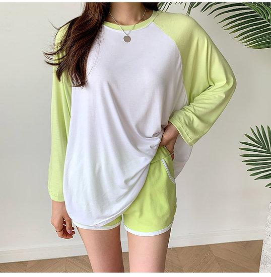 Lime top+pants (set)