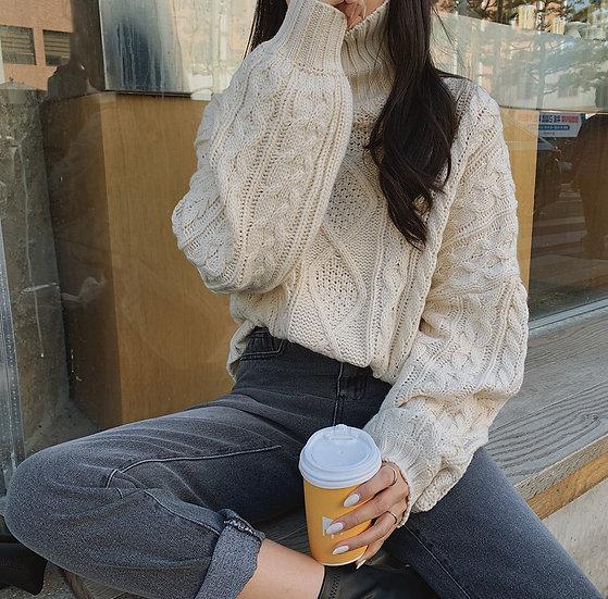 Twist turtleneck sweater