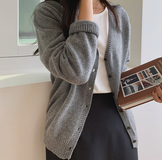 Latte wool cardigan