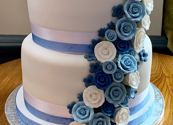 Wedding Cakes  2 tier - Traditional Icing