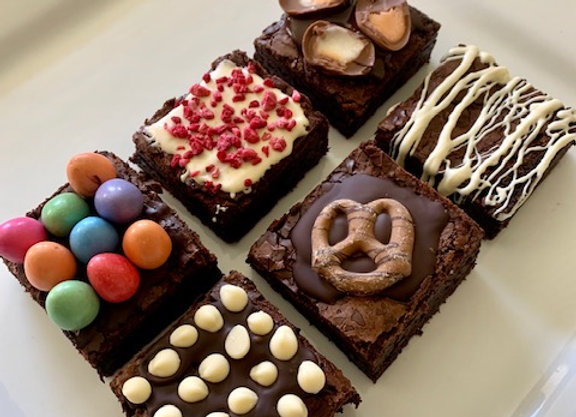 Assorted Topped Brownies