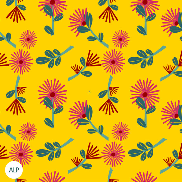 Estampa Flor Espetinho