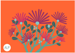 Estampa Flor Espetinho localizada