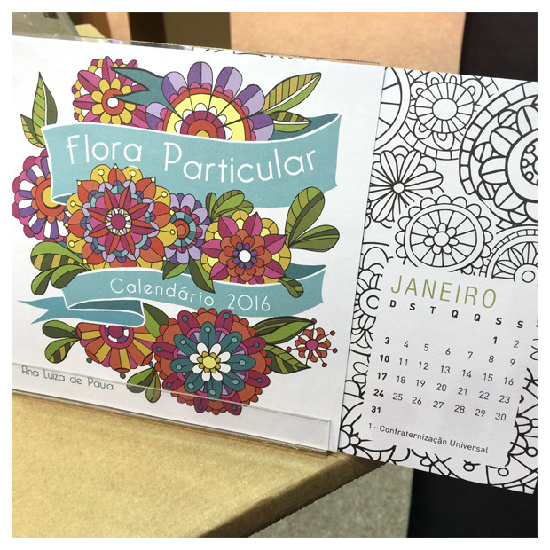 calendario colorir 2016