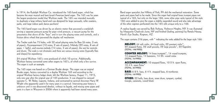 Wurlitzer-166 - all volumes - liner note