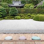 白砂だけの方丈庭園 一休寺