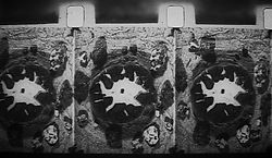 Film frames of petrified rock