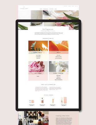 Living Light Candles web design