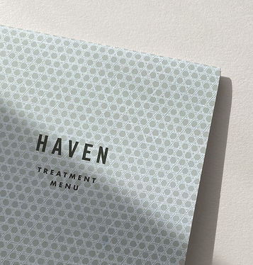 Haven Skin Spa brand design by Dossier Auckland New Zealand