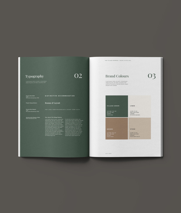 The Village Reserve brand guidelines
