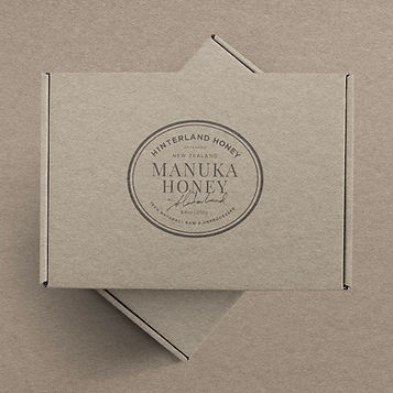 Hinterland honey packaging design by Dossier