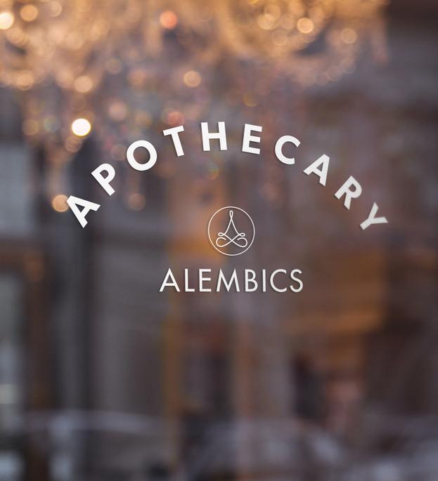 Alembics signage design