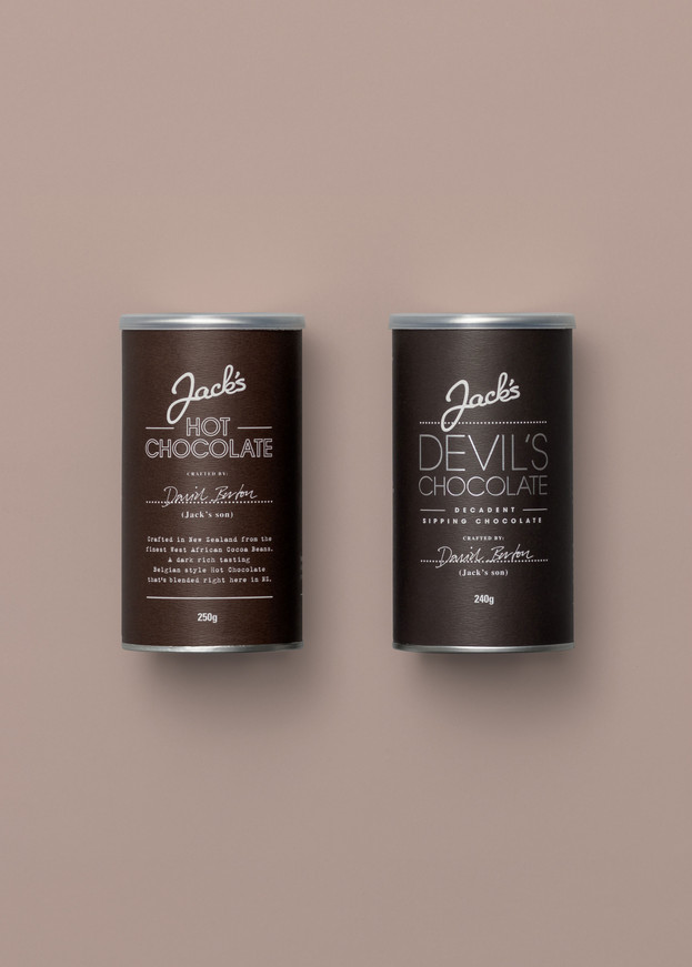 Jack's chocolate packaging design