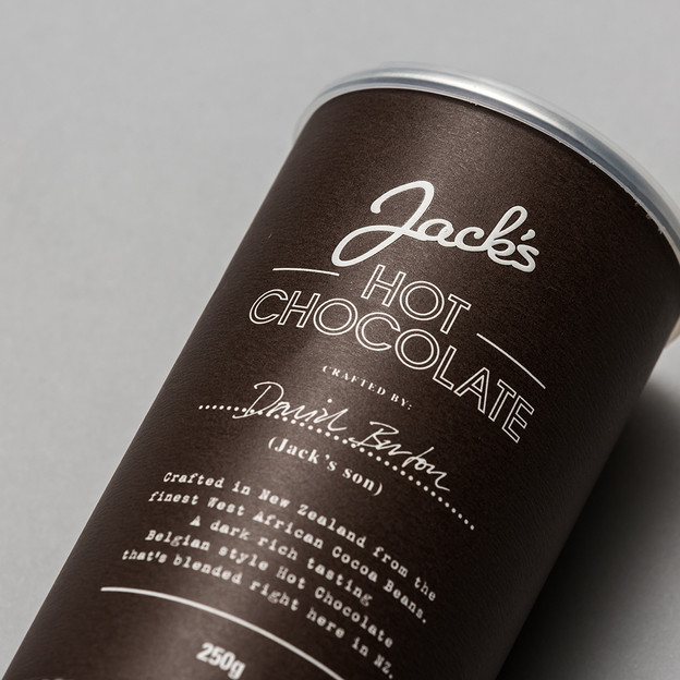 Jack's Hot Chocolate packaging design