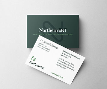 Northern ENT brand design by Dossier Auckland New Zealand