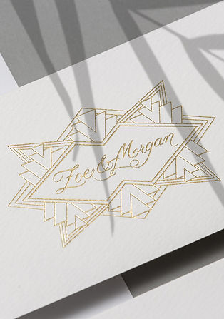 Zoe and Morgan logo design by Dossier brand studio Auckland New Zealand