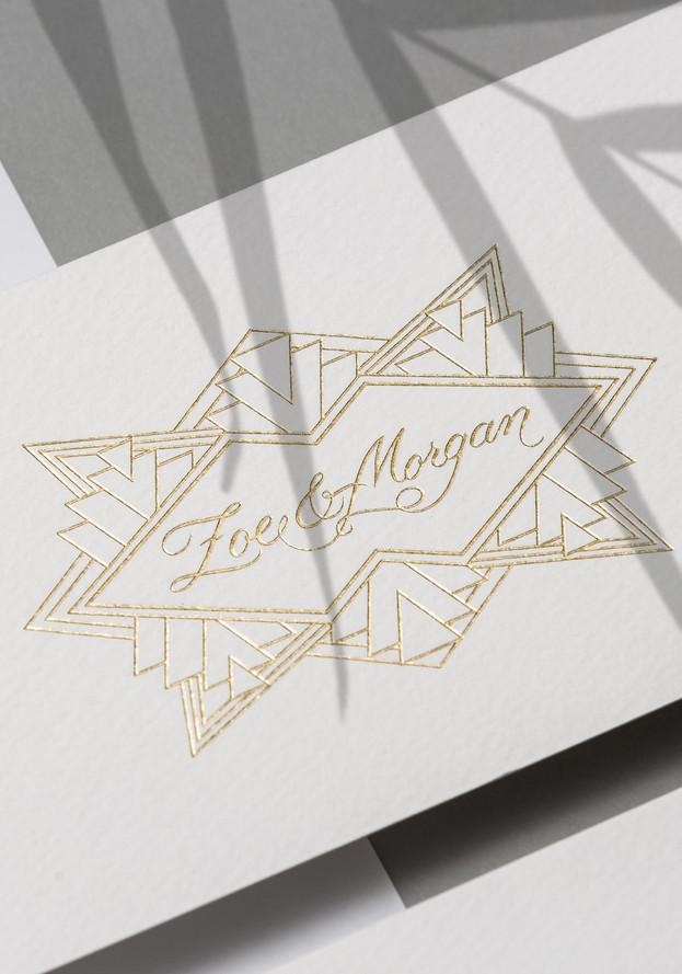 Zoe & Morgan logo design