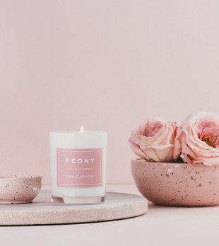 Peony Candle by Living Light Candles