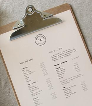 The Lost Poet menu