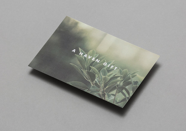 Haven promotional card design