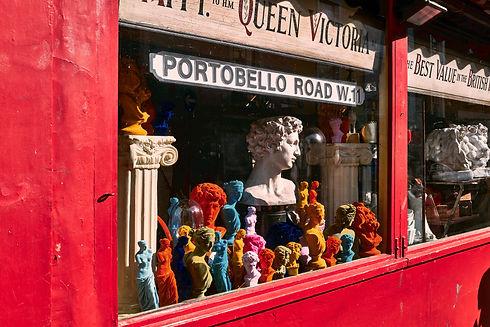 Portobello Road shop front Rooms The Lost Poet townhouse accommodation 6 Portobello Road Notting Hill London