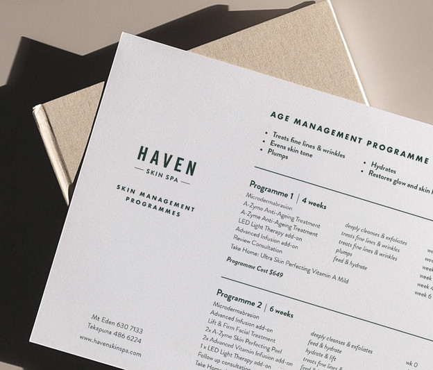 Haven flyer design