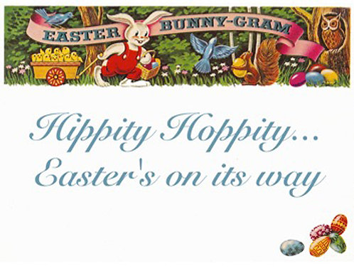 Easter Card - Eastergram Hippity Hoppity