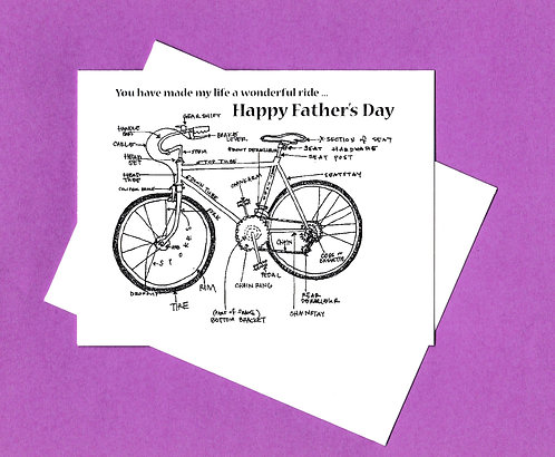 Father's Day Greeting Card - Bicycle