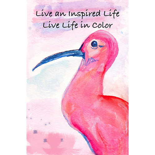 "Inspirational Card - ""Live Life"""
