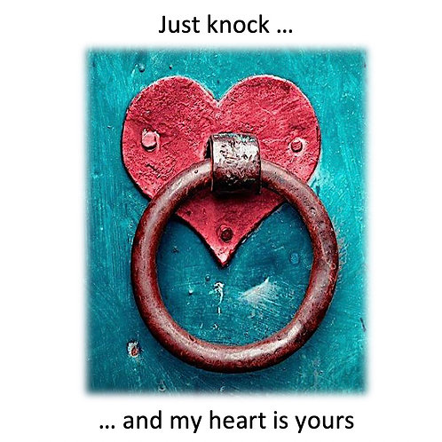 Greeting Card - Heart Knocker