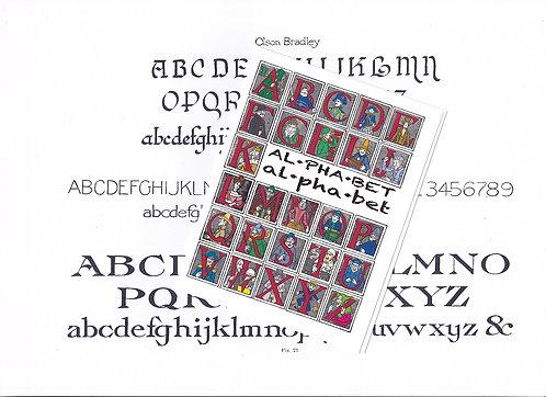 Greeting Note Card - Alphabet