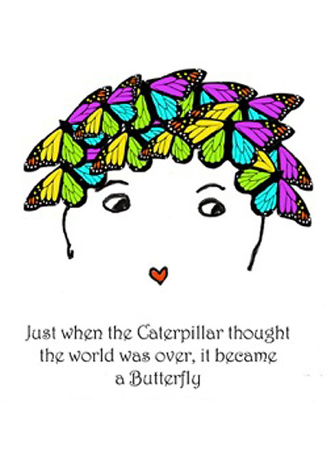 Greeting Card - It Became a Butterfly