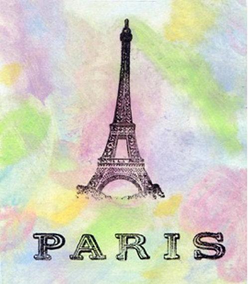Greeting Card - Paris Pastel