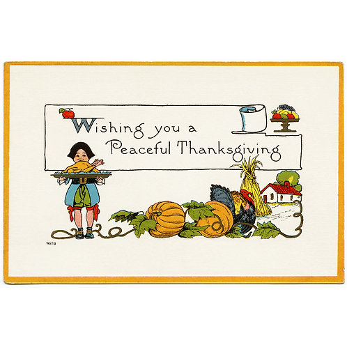 Thanksgiving Card - Peaceful Thanksgiving