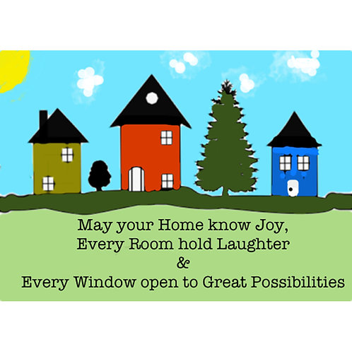 Greeting Card - May Your Home Know Joy