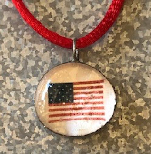 Handmade Flag Pendant