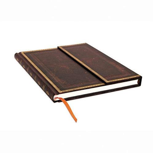 Black Moroccan Old Leather Collection Grande Journal Sketchbook - Paperblanks