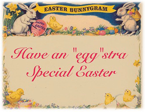 Easter Card - Eastergram Egg-stra Special Easter