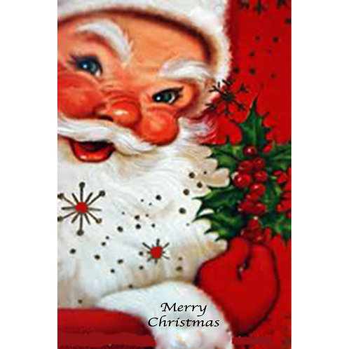 Christmas Card - Red Santa