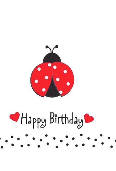 Birthday Greeting Card -Ladybug Birthday