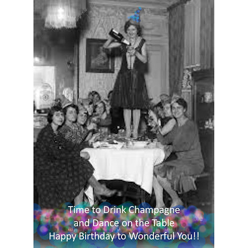 Birthday Card - Champgne for Your Birthday