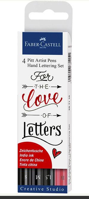 Pitt Artist Pen® Hand Lettering Set of 4 Pens